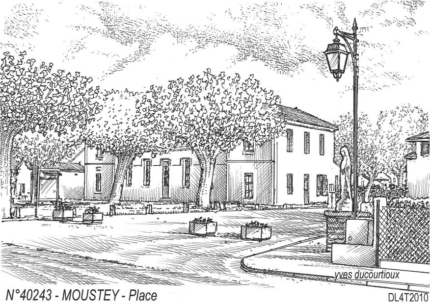 N° 40243 - MOUSTEY - place