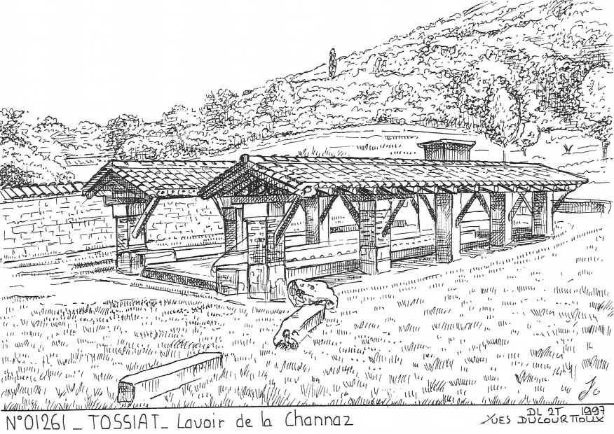 Cartes postales TOSSIAT - lavoir de la channaz
