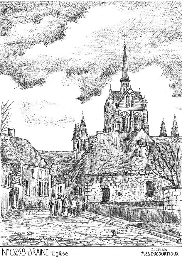 Carte Postale N° 02058 - BRAINE - église