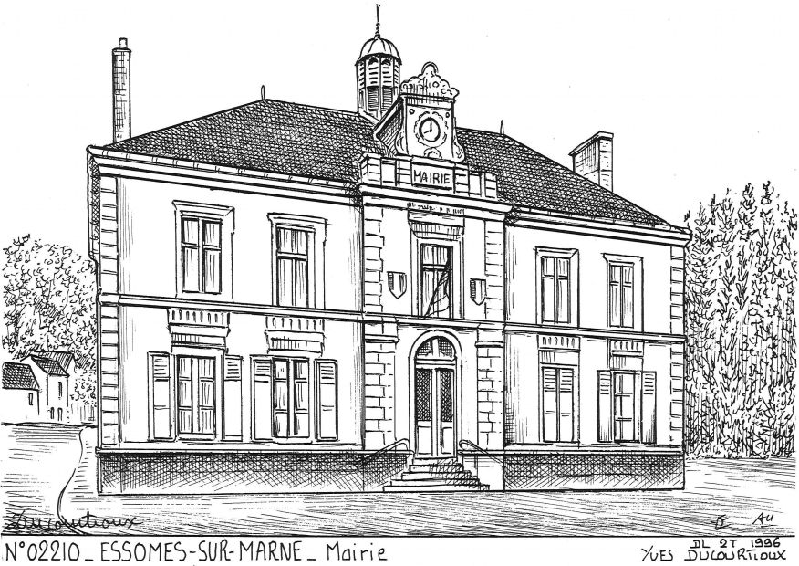 Carte Postale N° 02210 - ESSOMES SUR MARNE - mairie