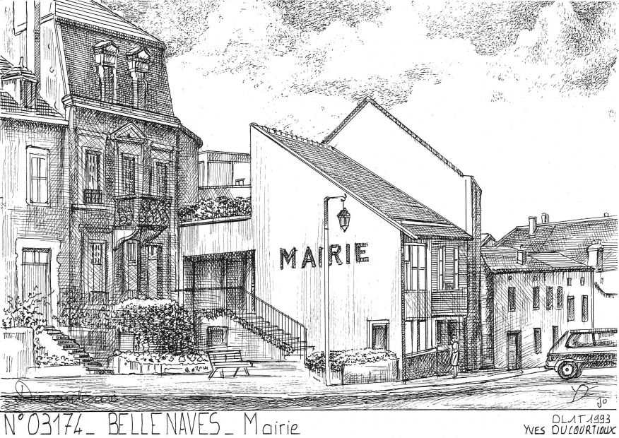 Carte Postale N° 03174 - BELLENAVES - mairie