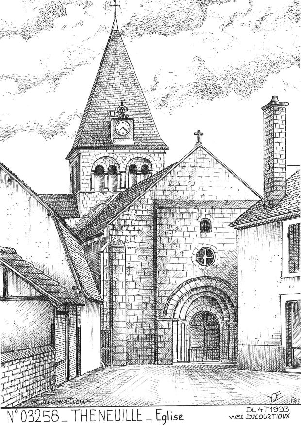 Carte Postale N° 03258 - THENEUILLE - église