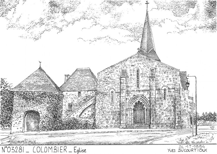 N° 03281 - COLOMBIER - église