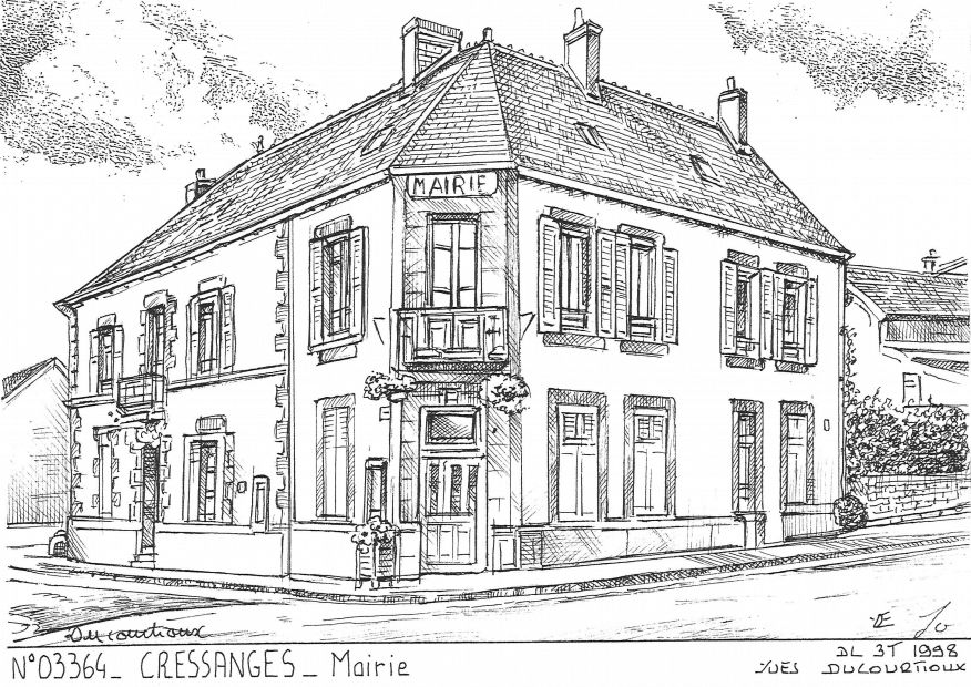 Carte Postale N° 03364 - CRESSANGES - mairie