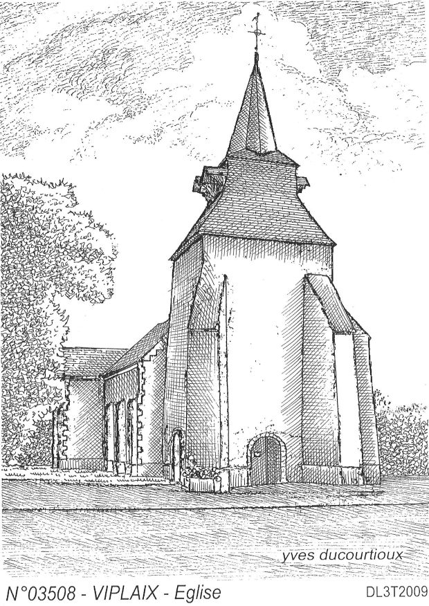 Cartes postales VIPLAIX - église