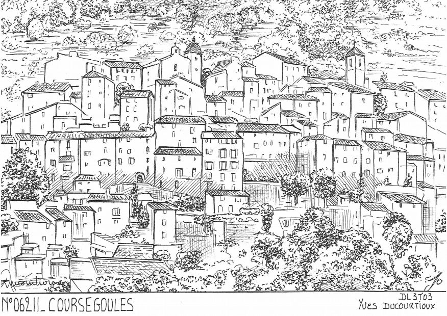 Carte Postale N° 06211 - COURSEGOULES - vue