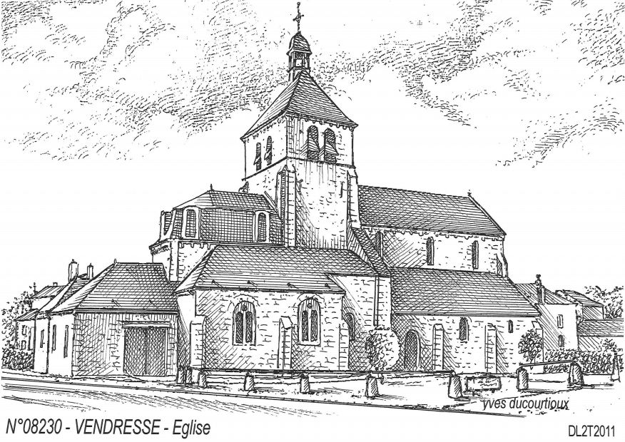 Cartes postales VENDRESSE - église