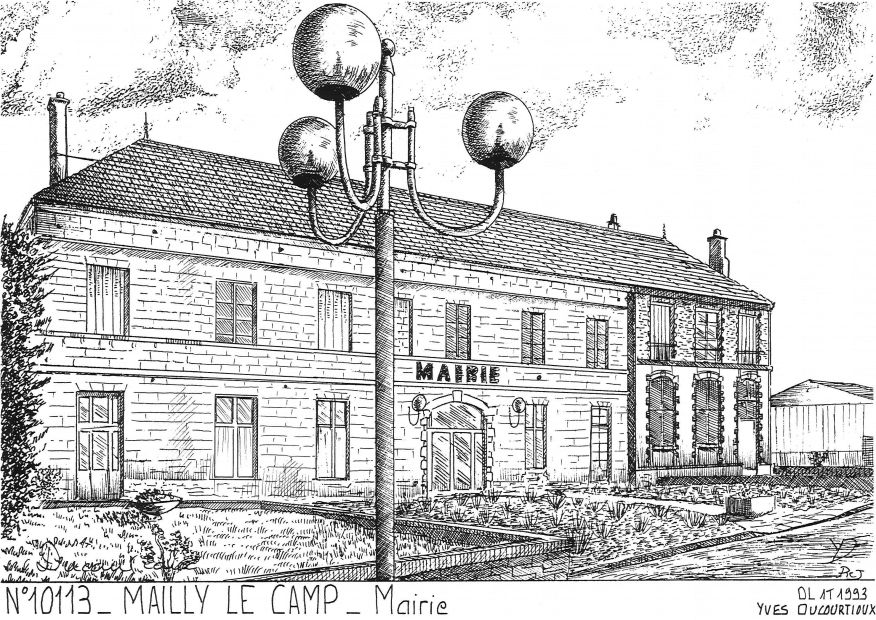 Cartes postales MAILLY LE CAMP - mairie
