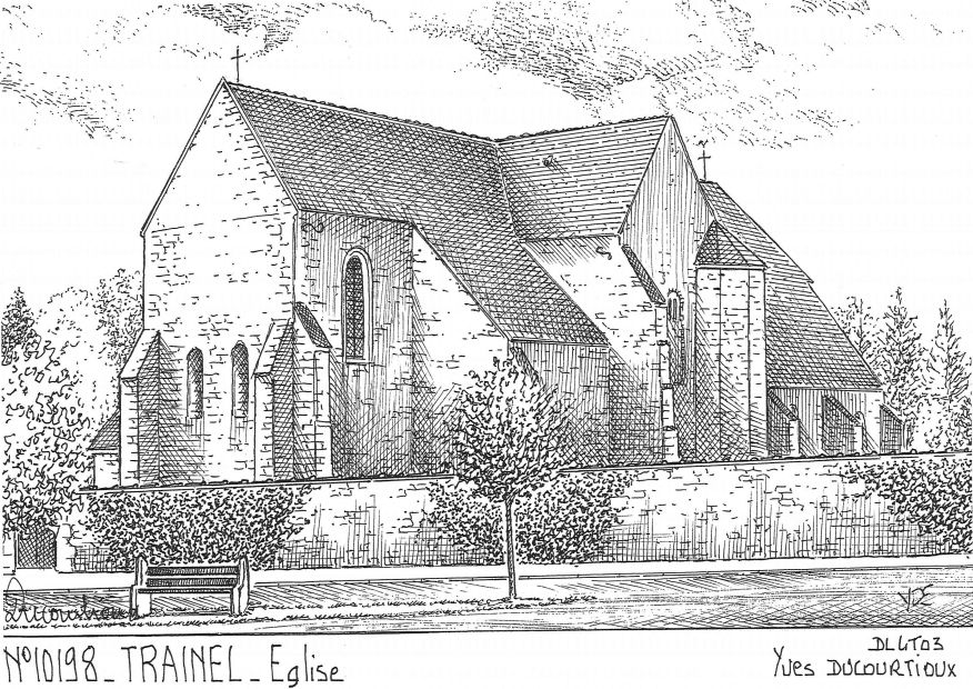 Carte Postale N° 10198 - TRAINEL - église