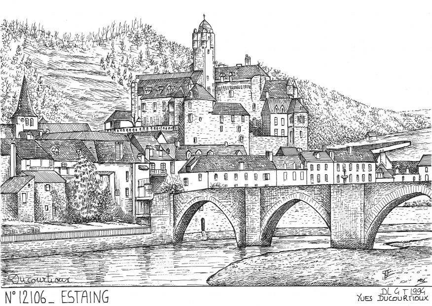 Carte Postale N° 12106 - ESTAING - vue