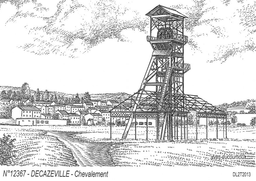 Cartes postales DECAZEVILLE - chevalement
