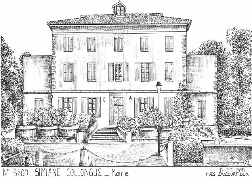 Carte Postale N° 13200 - SIMIANE COLLONGUE - mairie