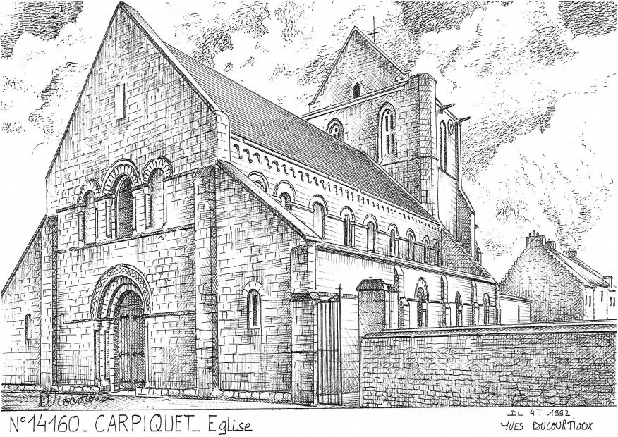 Carte Postale N° 14160 - CARPIQUET - église