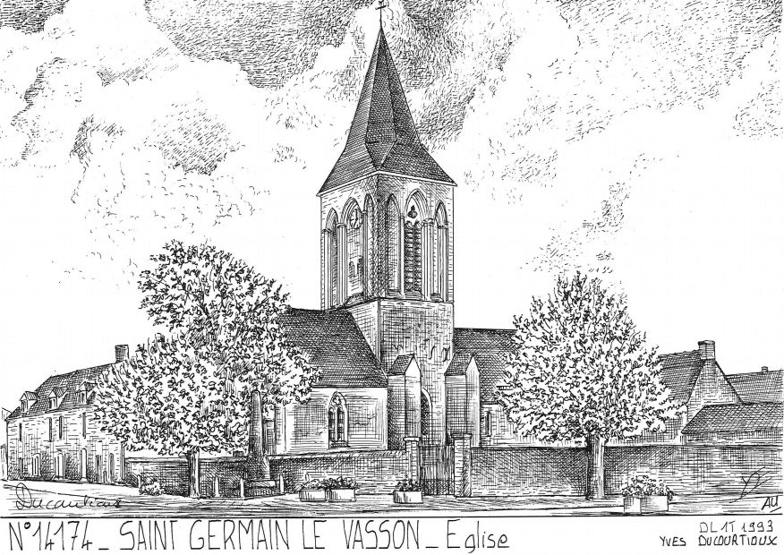 N° 14174 - ST GERMAIN LE VASSON - église
