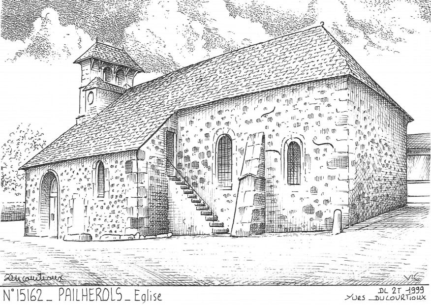 Carte Postale N° 15162 - PAILHEROLS - église