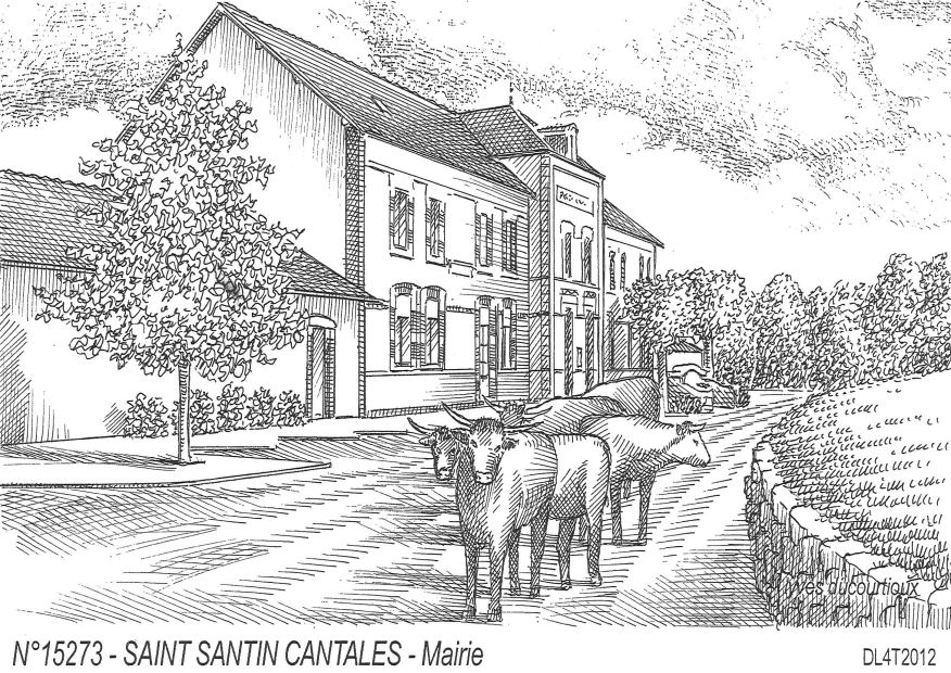 Cartes postales ST SANTIN CANTALES - mairie