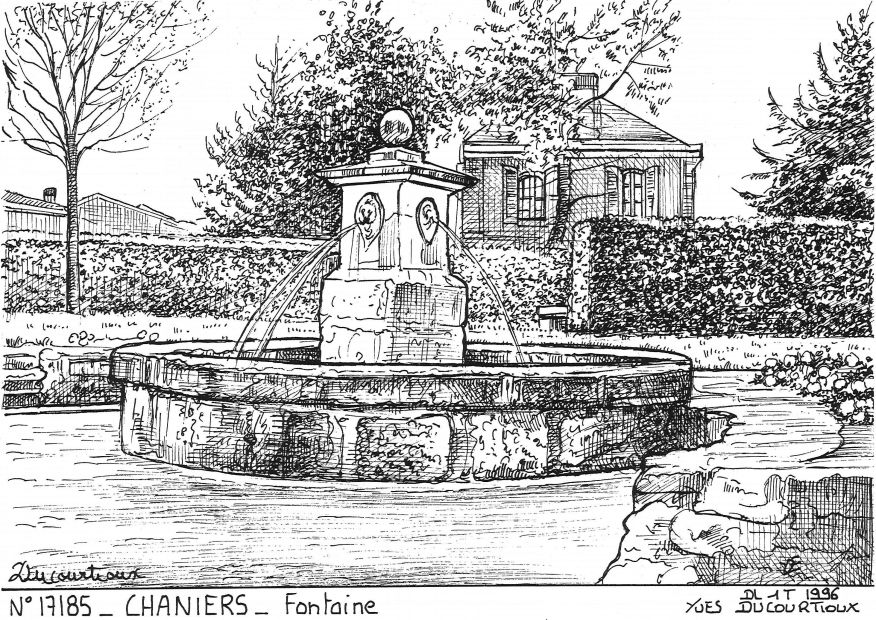 Carte Postale N° 17185 - CHANIERS - fontaine