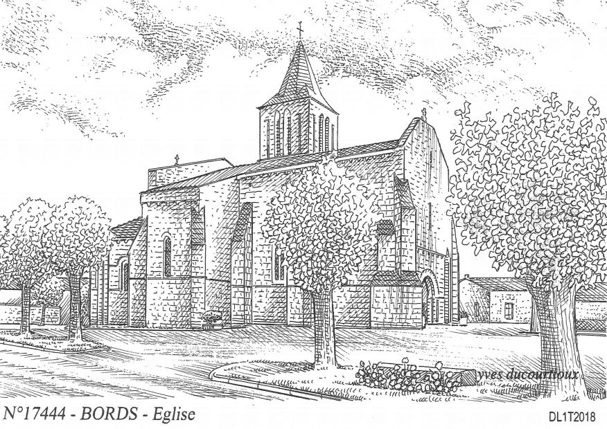 Cartes postales BORDS - église