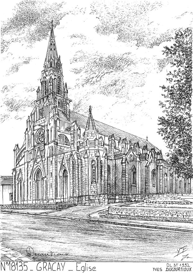 Carte Postale N° 18135 - GRACAY - église