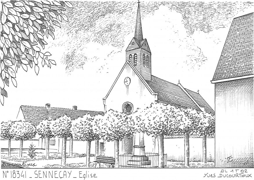 Carte Postale N° 18341 - SENNECAY - église