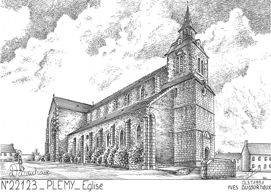 Cartes postales PLEMY - église