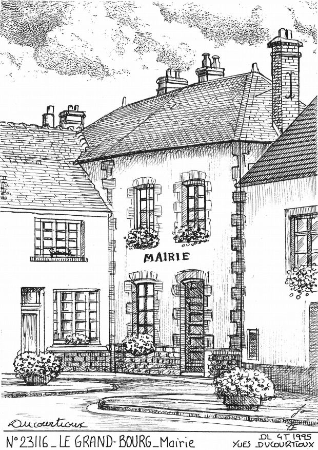 Carte Postale N° 23116 - LE GRAND BOURG - mairie