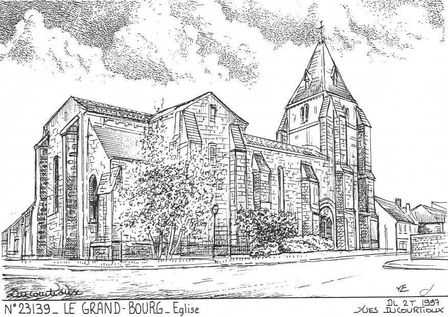 Carte Postale N° 23139 - LE GRAND BOURG - église