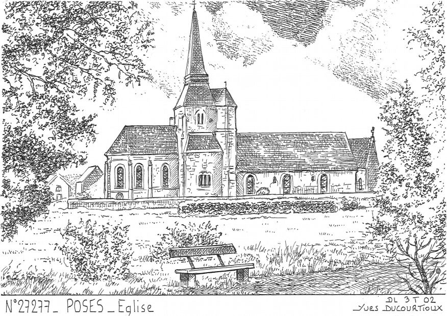 Carte Postale N° 27277 - POSES - église