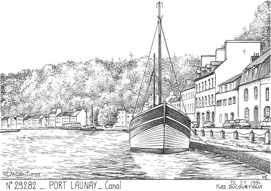 Carte Postale N° 29282 - PORT LAUNAY - canal