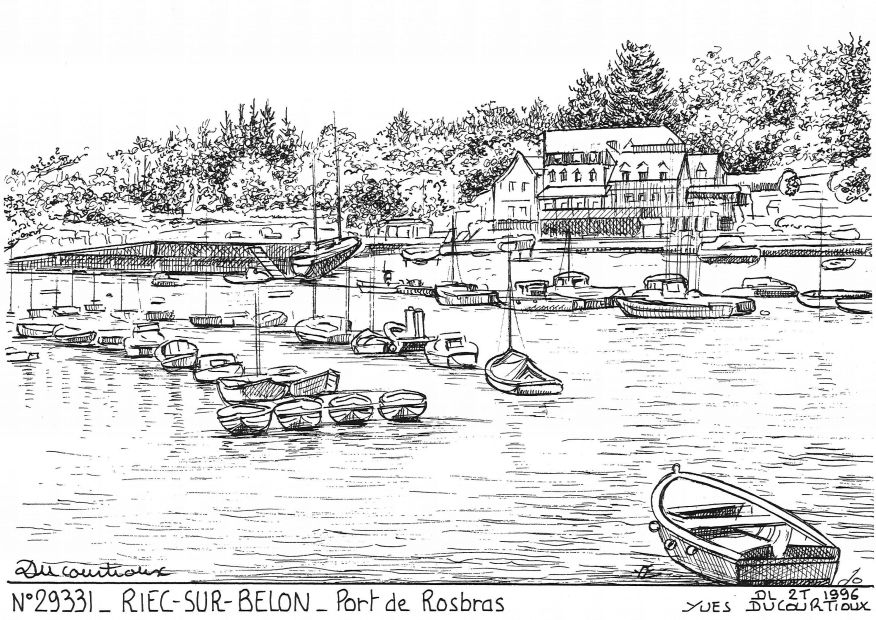 Cartes postales RIEC SUR BELON - port de rosbras