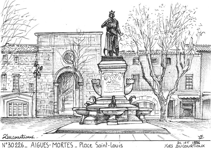 Carte Postale N° 30226 - AIGUES MORTES - place st louis