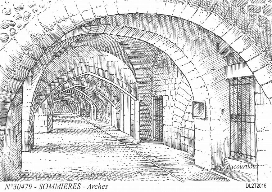Cartes postales SOMMIERES - arches