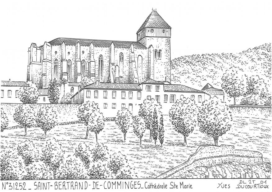 Cartes postales ST BERTRAND DE COMMINGES - cathédrale ste marie
