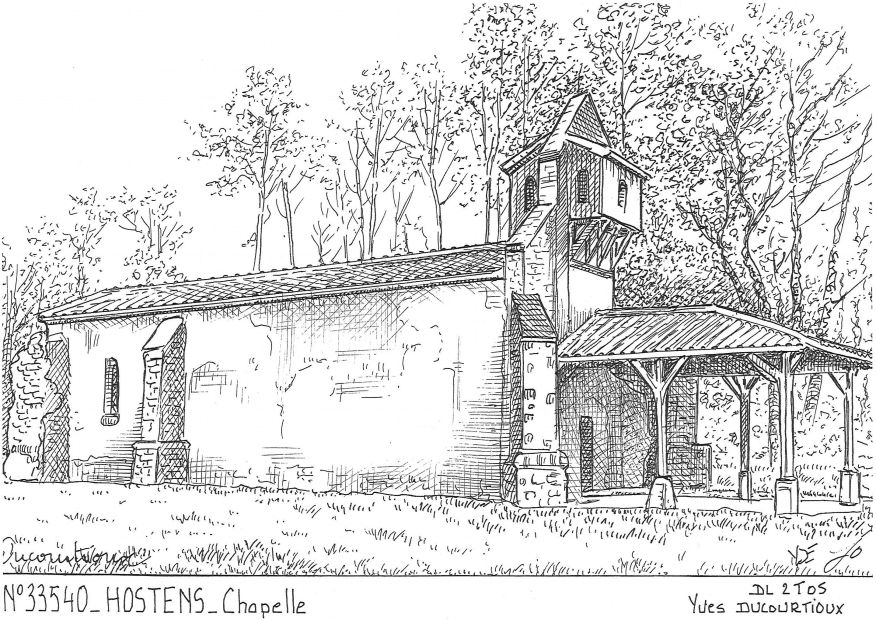 Carte Postale N° 33540 - HOSTENS - chapelle