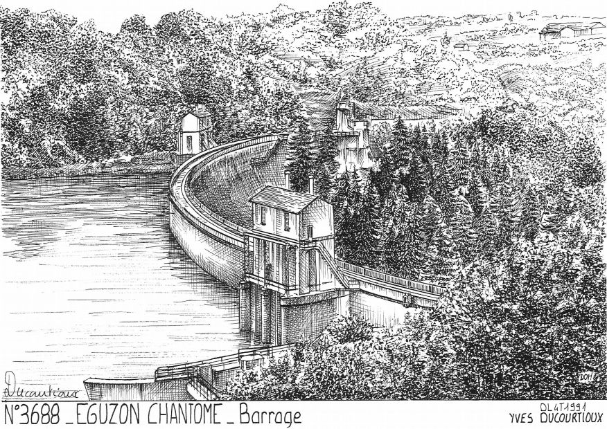 Cartes postales EGUZON CHANTOME - barrage