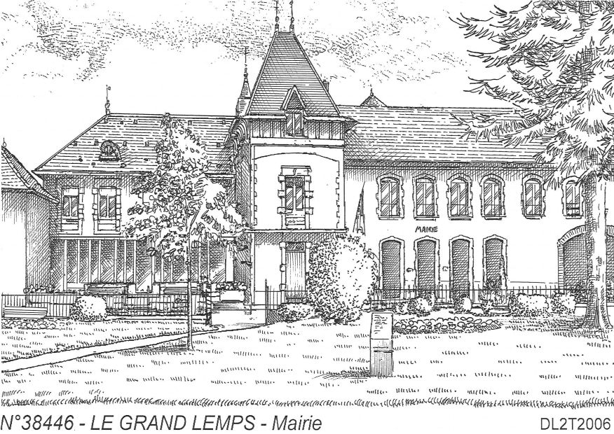 Carte Postale N° 38446 - LE GRAND LEMPS - mairie