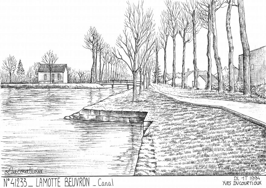 Cartes postales LAMOTTE BEUVRON - canal
