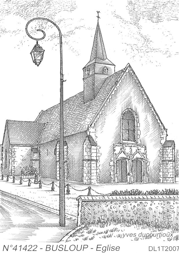 Carte Postale N° 41422 - BUSLOUP - église
