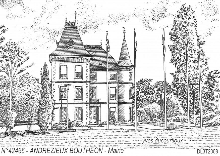 Carte Postale N° 42466 - ANDREZIEUX BOUTHEON - mairie