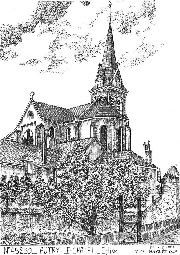 Carte Postale N° 45230 - AUTRY LE CHATEL - église