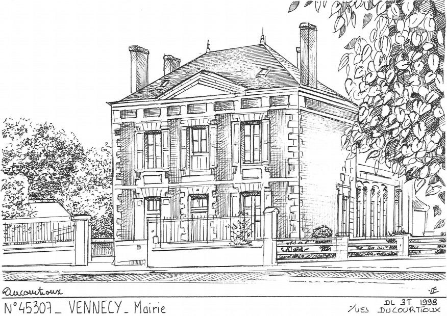 Carte Postale N° 45307 - VENNECY - mairie