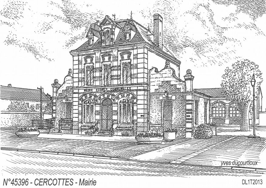 Carte Postale N° 45396 - CERCOTTES - mairie