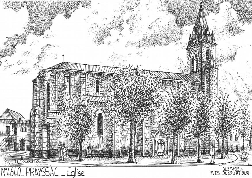 Carte Postale N° 46040 - PRAYSSAC - église