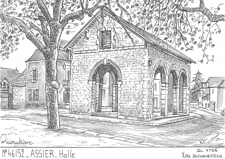 Carte Postale N° 46152 - ASSIER - halle