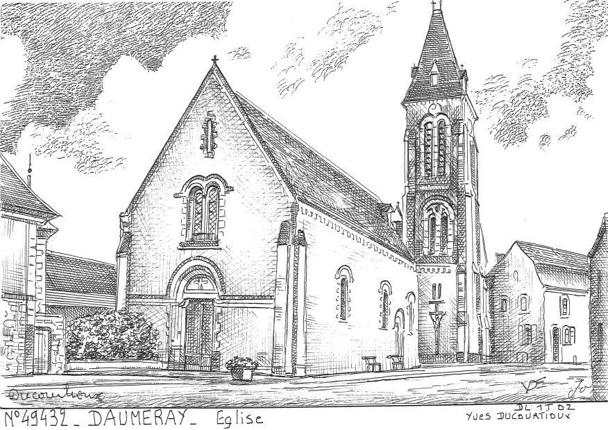 Carte Postale N° 49432 - DAUMERAY - église