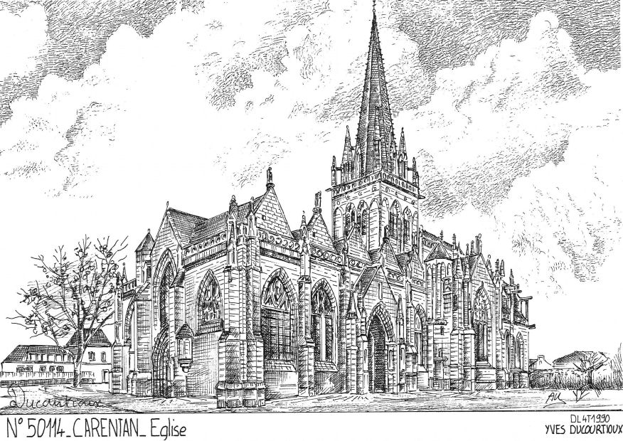 Carte Postale N° 50114 - CARENTAN - église