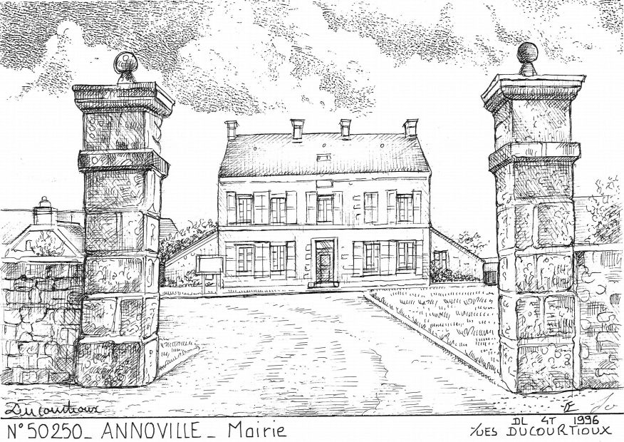 Cartes postales ANNOVILLE - mairie