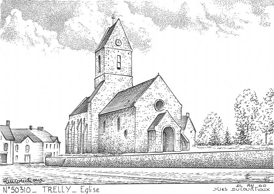 Carte Postale N° 50310 - TRELLY - église