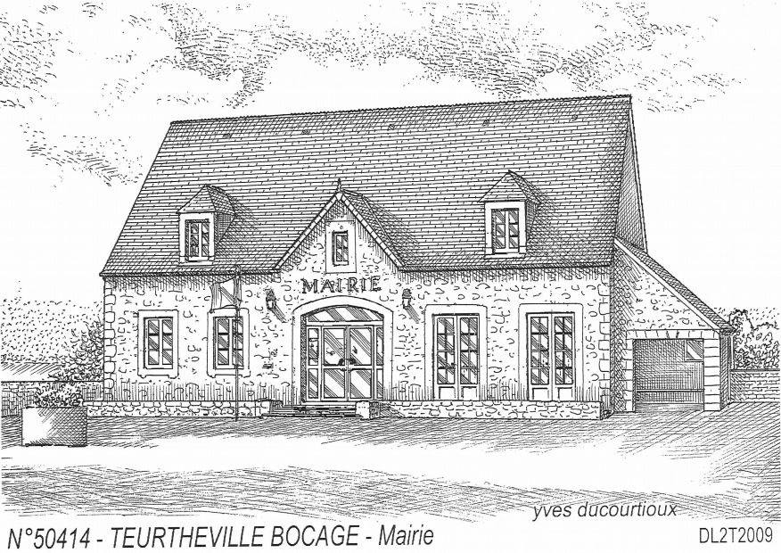 Cartes postales TEURTHEVILLE BOCAGE - mairie