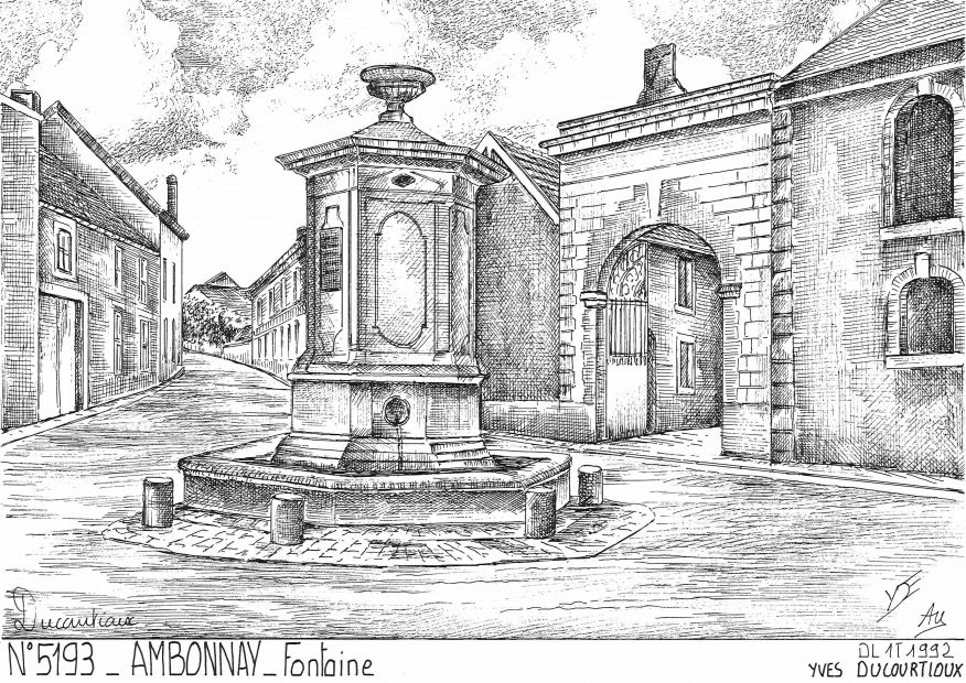 Cartes postales AMBONNAY - fontaine